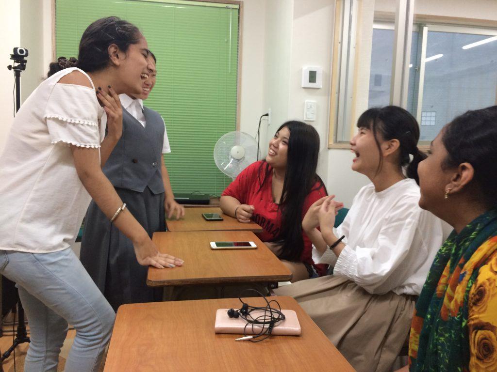 生徒たちの笑顔