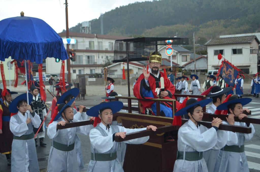 朝鮮通信使の再現パレード